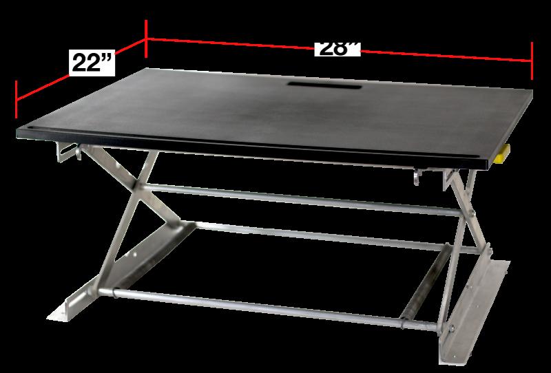 RiseUP Standing Desk Dimensions